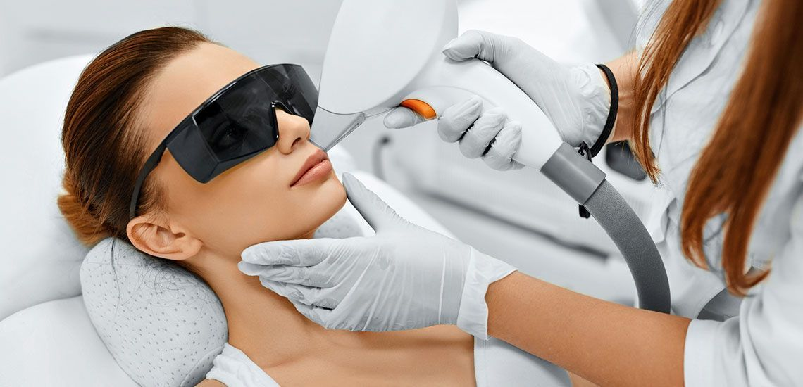 Woman receiving Laser Hair Removal